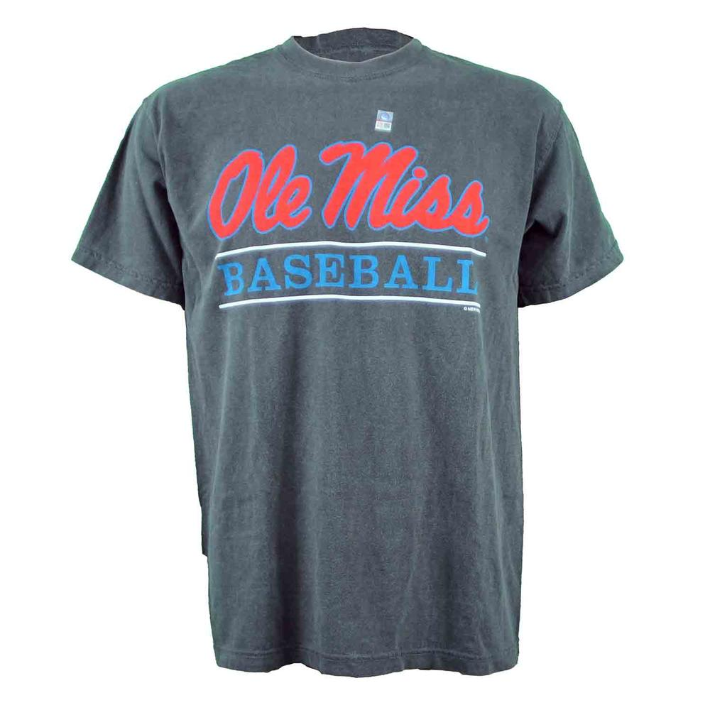 Ole Miss Baseball Bar Design Comfort Colors Ss Tee
