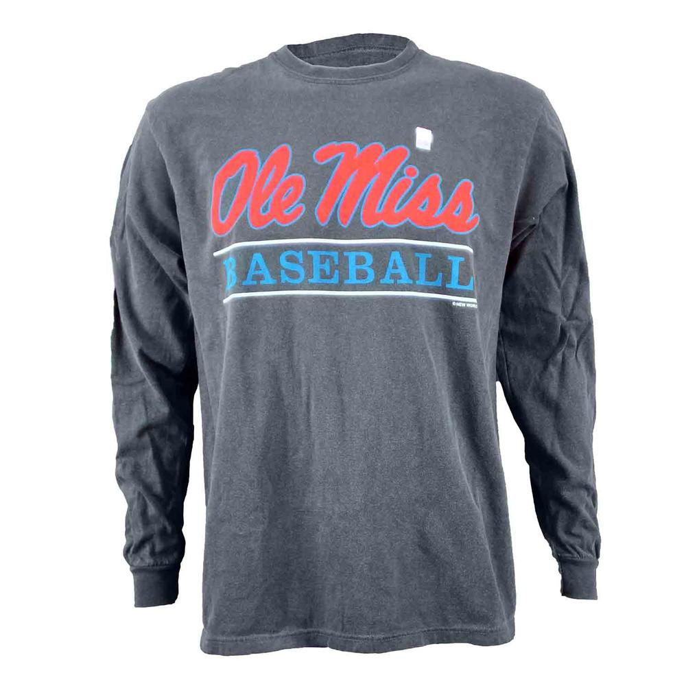 Ole Miss Baseball Bar Design Comfort Colors Ls Tee