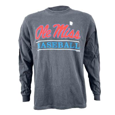OLE MISS BASEBALL BAR DESIGN COMFORT COLORS LS TEE