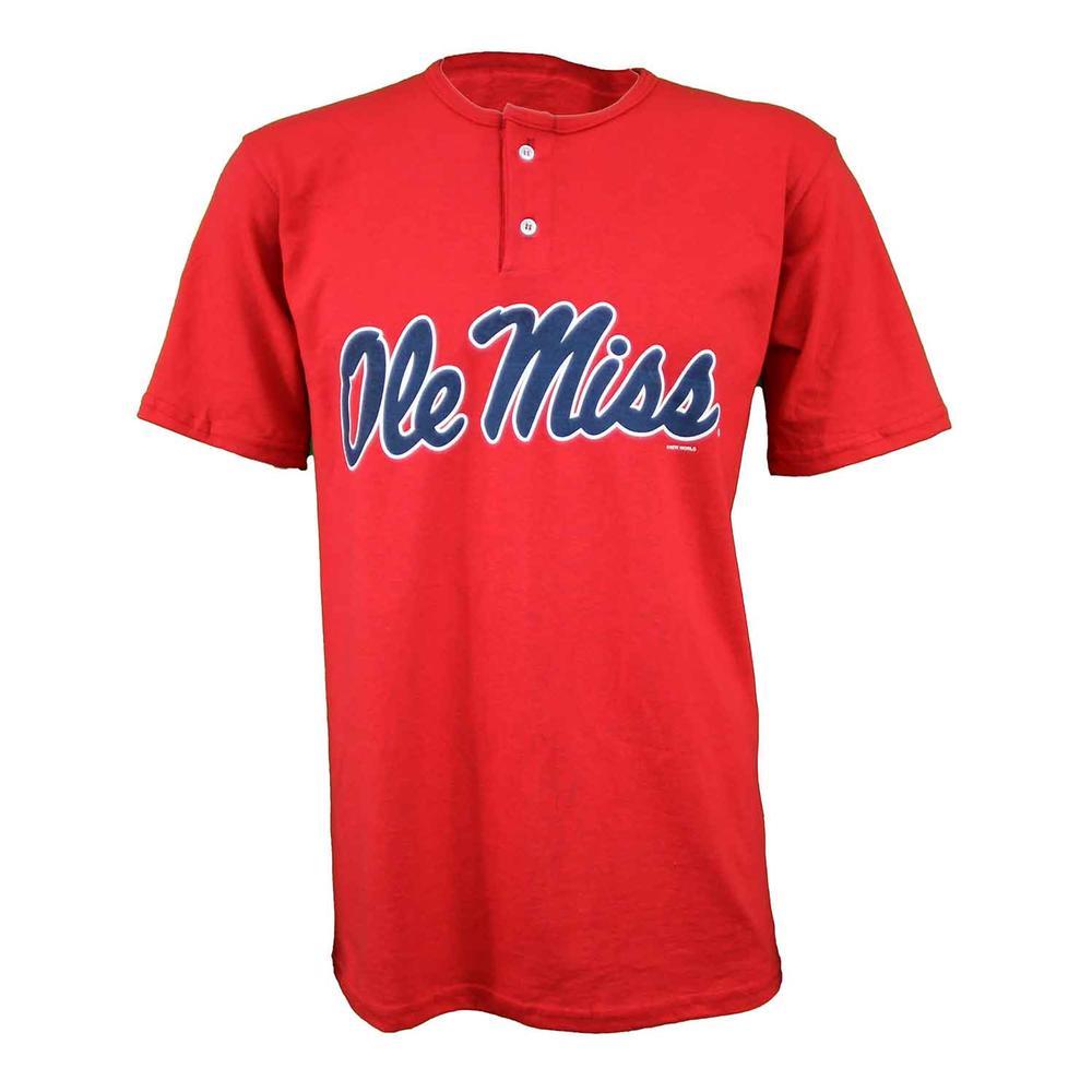 Ole Miss Ss Baseball Henley Tee