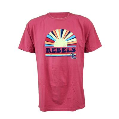 OLE MISS REBELS SS RISING SUN COMFORT WASH TEE