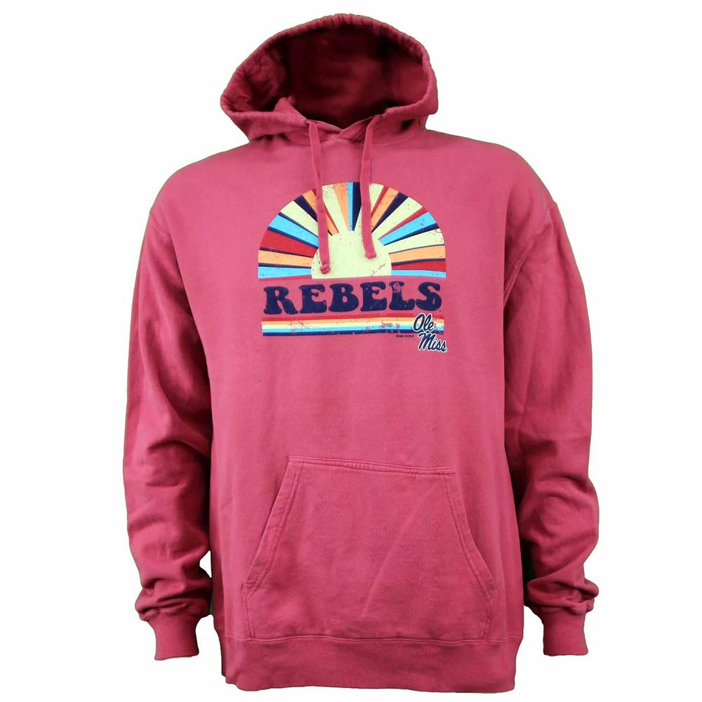 Ole Miss Rebels Hood Rising Sun Comfort Wash Sweatshirt