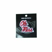 OLE MISS GLITTER IRON ON PATCH