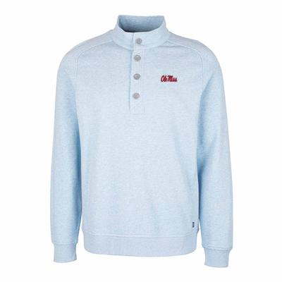OLE MISS SCRIPT MEN`S SATURDAY MOCK SWEATSHIRT