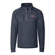 OLE MISS SCRIPT MENS MAINSAIL HALF ZIP SWEATER