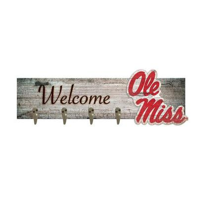 OLE MISS WELCOME COAT HANGER