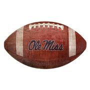 OLE MISS 12 IN FOOTBALL SHAPED