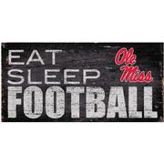 EAT SLEEP FOOTBALL 12X6 SIGN