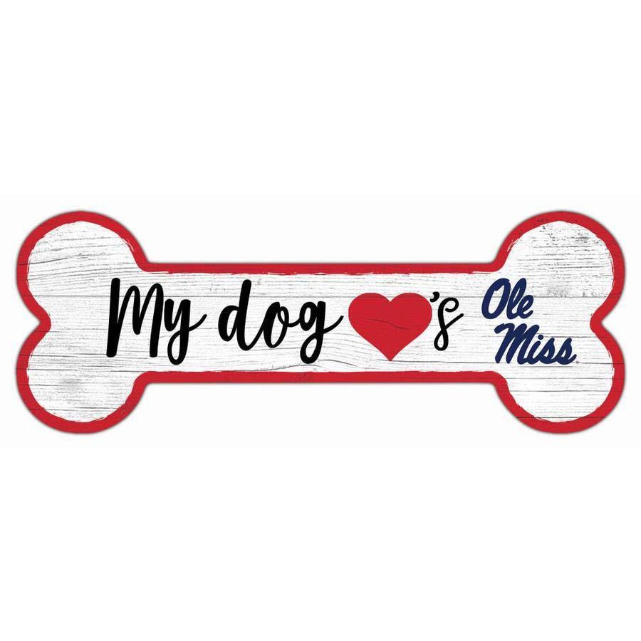 6x12 Ole Miss Dog Bone Sign