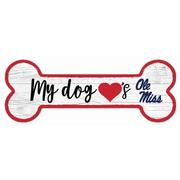 6X12 OLE MISS DOG BONE SIGN