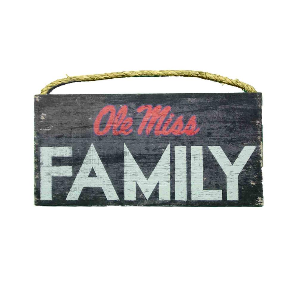 Ole Miss Family 12x6 Sign