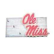 OLE MISS KEY HOLDER 6X12
