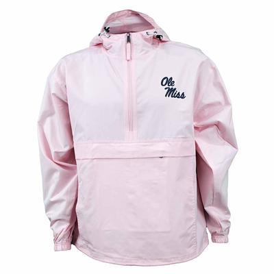 OLE MISS PACK N GO JACKET PINK