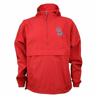 OLE MISS PACK N GO JACKET RED