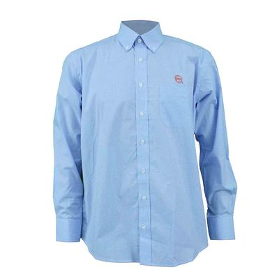 OLE MISS WRINKLE FREE BUTTON UP LIGHT_BLUE