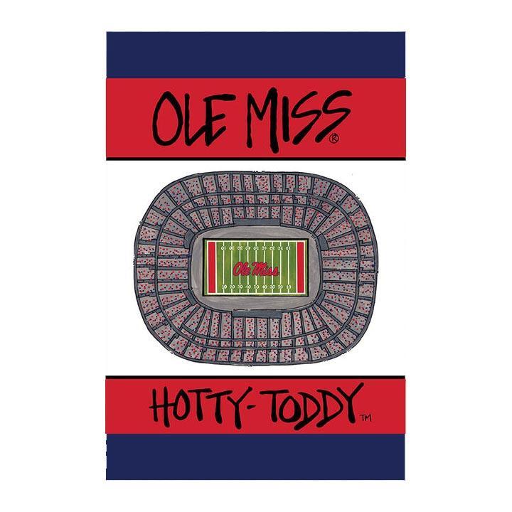 Ole Miss Stadium Garden Flag