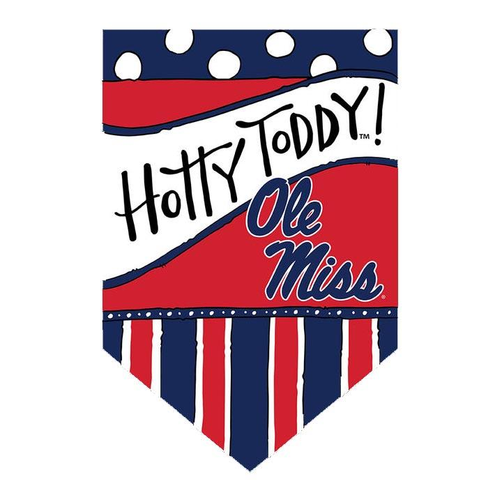 Ole Miss Dots And Stripes Garden Flag