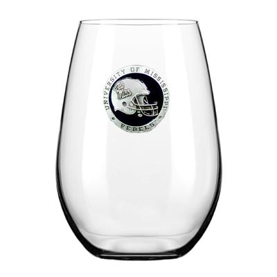 OLE MISS PEWTER STEMLESS WINE GOBLET