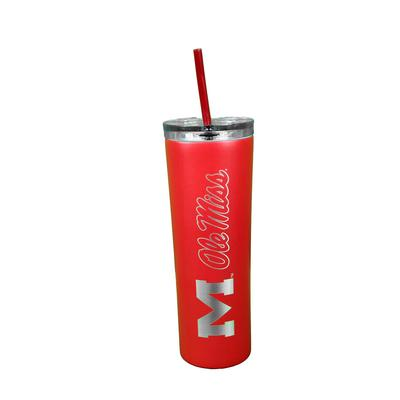 OLE MISS THE SKINNY 18OZ VACUUM INSULATED CUP WITH STRAW