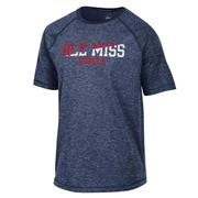 OLE MISS REBELS FIRESIDE RAGLAN SS TEE