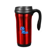 OLE MISS 15OZ WILSON HANDLE TRAVEL MUG