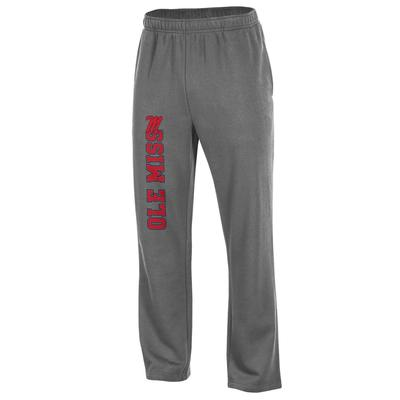OLE MISS MENS BIG COTTON OPEN BOTTOM PANT CHARCOAL_HEATHER