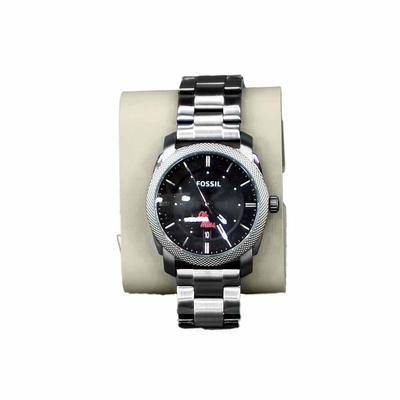 MENS OLE MISS FOSSIL MACHINE STAINLESS STEEL WATCH