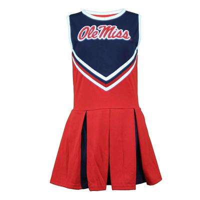 OLE MISS ONE PIECE V-FRONT CHEER DRESS YOUTH