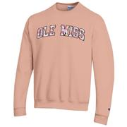 BLOCK OLE MISS WATER COLOR TWILL ECO POWERBLEND CREW