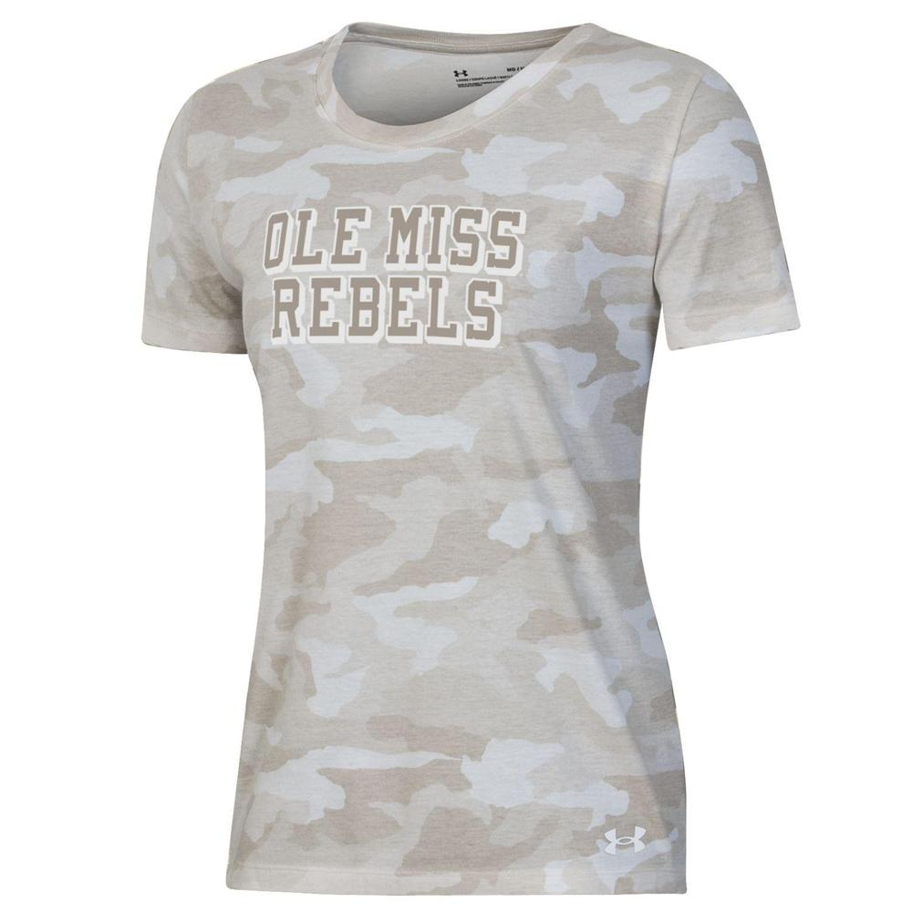 Ole Miss Rebels Performance Cotton Camo Ss Tee