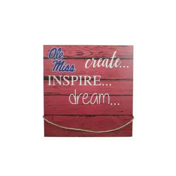 Ole Miss Create Inspire Dream Wall Hanger