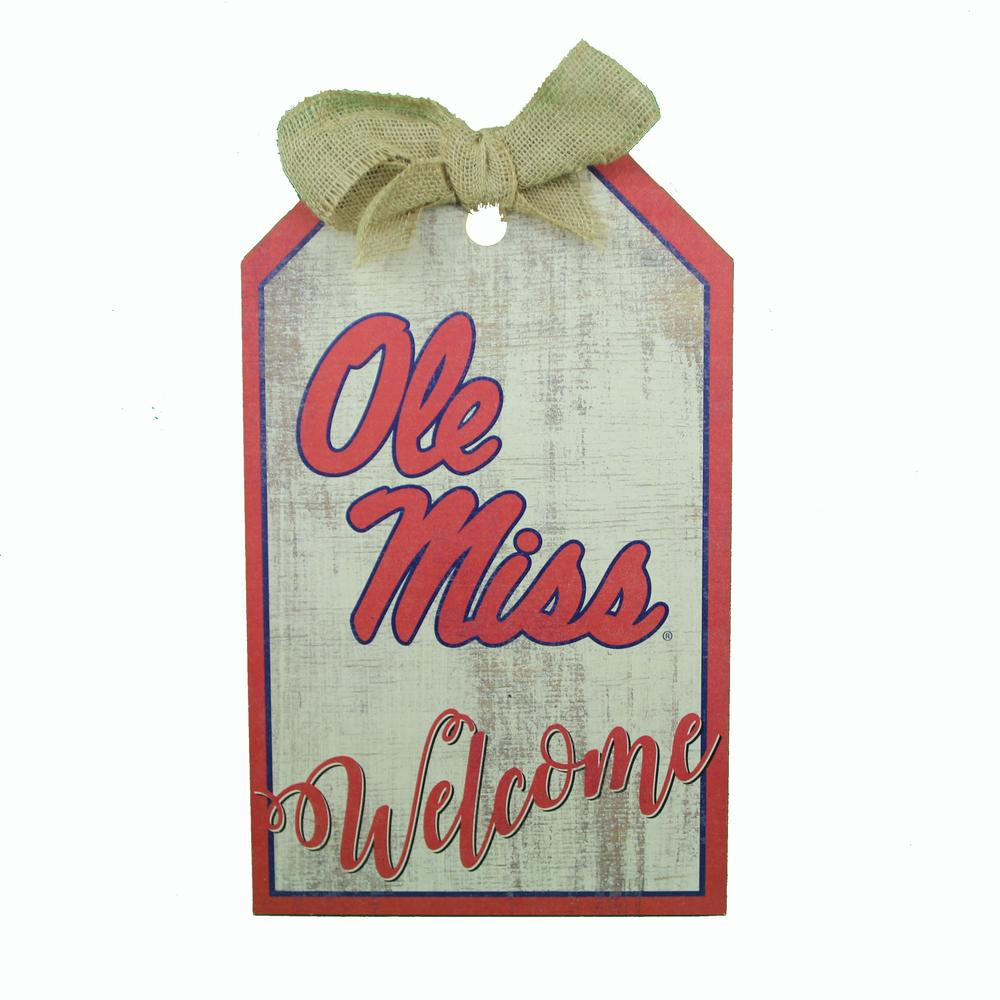 Ole Miss Team Tag 11in X 19in