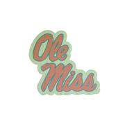 CUSTOM STACKED OLE MISS WOOD STICKER