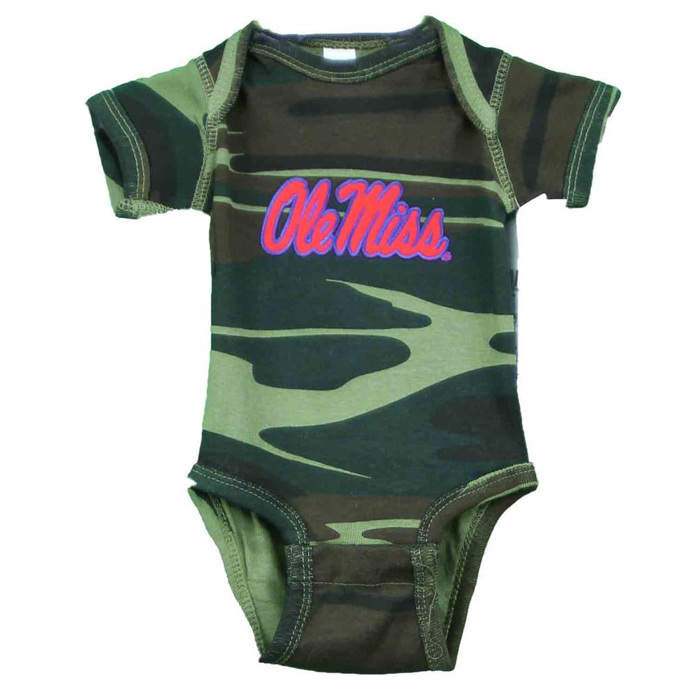 Ole Miss Camo Infant Lap Shoulder Creeper