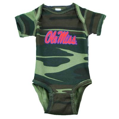 OLE MISS CAMO INFANT LAP SHOULDER CREEPER