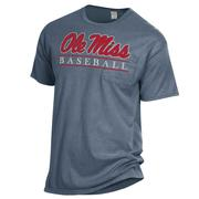 OLE MISS BASEBALL BAR COMFORT WASH SS POCKET TEE