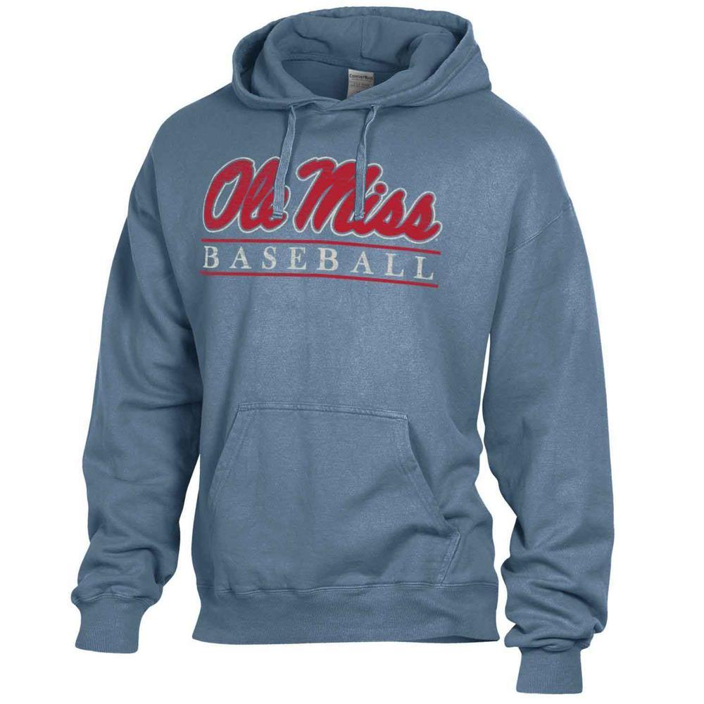 Ole Miss Baseball Bar Comfort Wash Hoody