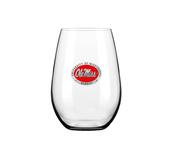 RED ENAMEL OLE MISS STEMLESS GOBLET
