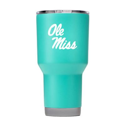 OLE MISS 30OZ TUMBLER WITH LID TEAL