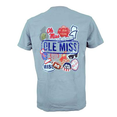 OLE MISS STICKERS SS COMFORT COLORS TEE