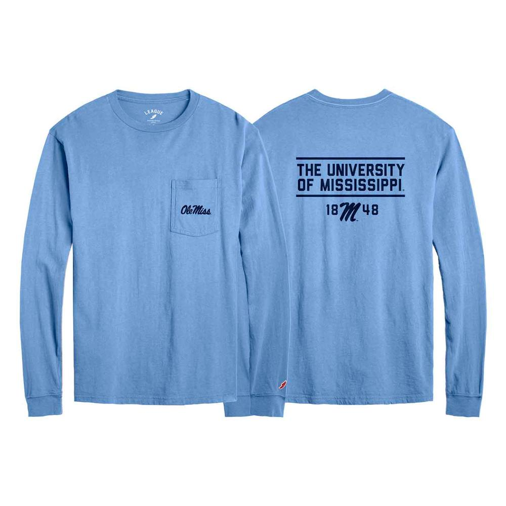 University Of Mississippi Long Sleeve Pocket Tee