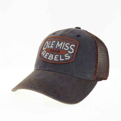 OLE MISS 1848 REBELS OLD FAVORITE ADJ TRUCKER CAP