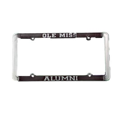 OLE MISS ALUMNI THIN RIM ANTIQUE PEWTER TAG FRAME