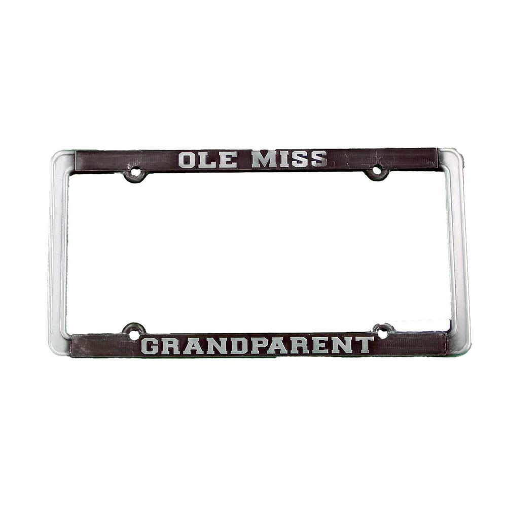 Ole Miss Grandparent Thin Rim Antique Pewter Tag Frame