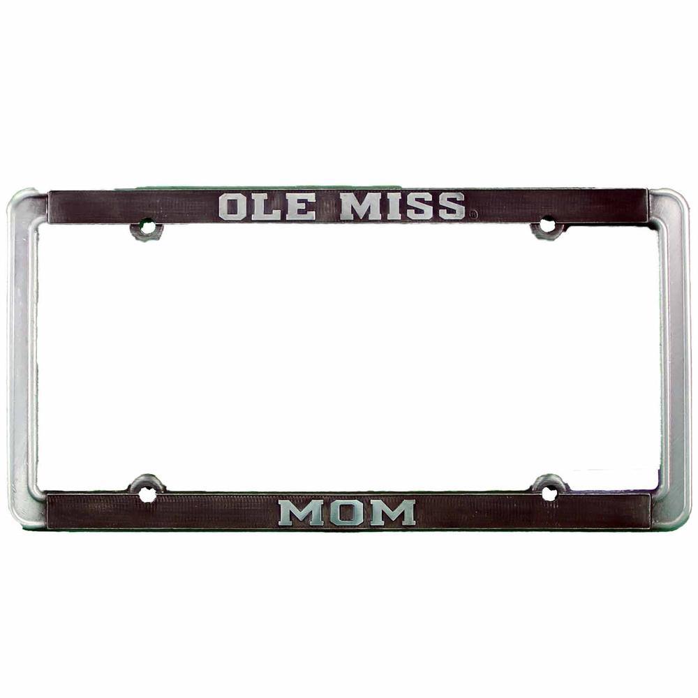 Ole Miss Mom Thin Rim Antique Pewter Tag Frame