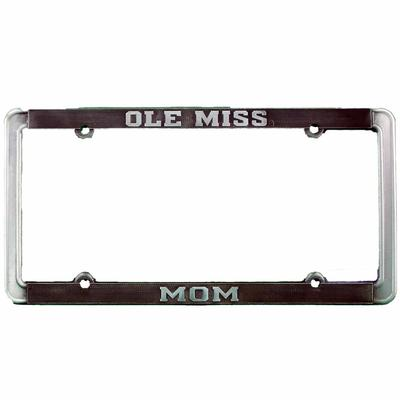 OLE MISS MOM THIN RIM ANTIQUE PEWTER TAG FRAME