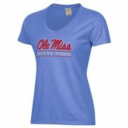 OLE MISS HOTTY TODDY BAR SS COMFORT WASH V-NECK TEE
