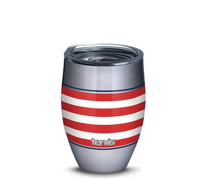 AMERICANA STARS STRIPES 12 OZ STAINLESS TUMBLER SLIDER LID