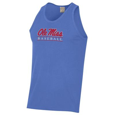 OLE MISS BASEBALL BAR COMFORT WASH TEE TANK DEEP_FORTE