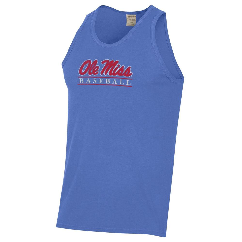 Ole Miss Baseball Bar Comfort Wash Tee Tank